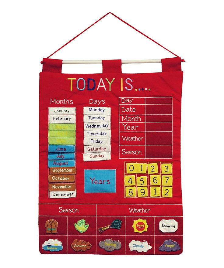 Red 'Today Is' Cloth Calendar | Daily deals for moms, babies and kids