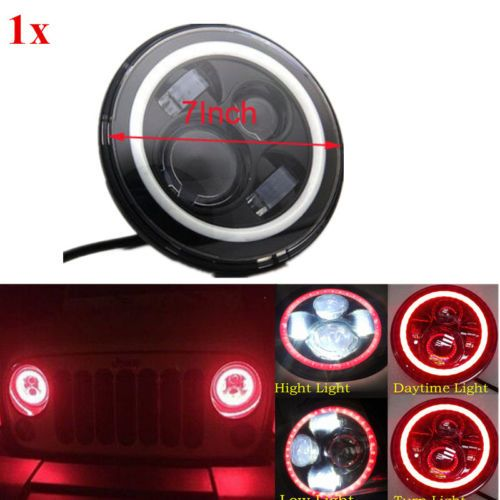 7'' LED Headlights Lamp with Red Halo Angel Eye For Jeep 97-15 Wrangler JK LJ TJ. Jeep Wrangler TJ Unlimited \ LJ (2003-2006) Jeep Wrangler TJ (1997-2006) Jeep Wrangler JK 2 Door (2007-2015) | eBay!