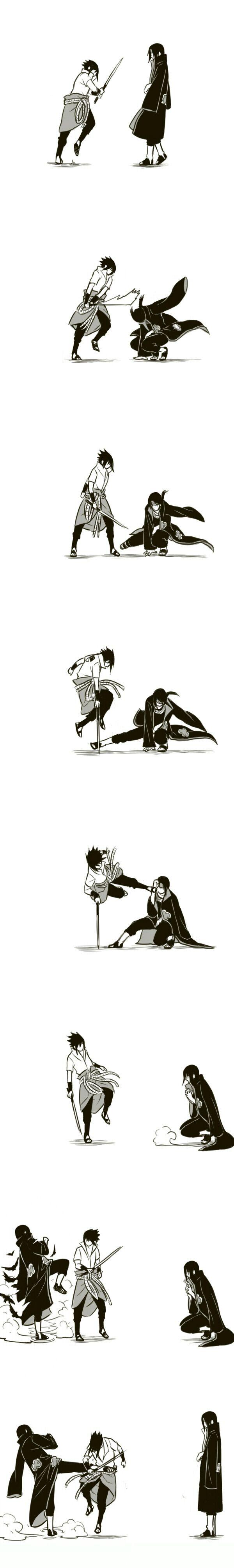 Poxa Itachi! Sabemos que tu és fodão! Mas não humilhe mais o Sasuke kkk Uchihas lindos!
