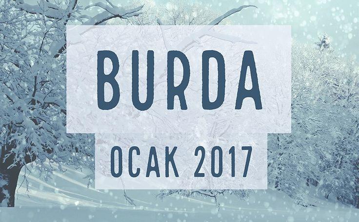 BURDA DERGİSİ OCAK 2017 (Teknik Çizimleriyle)
