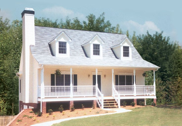Cape cod style home with triple dormers love the look of for House plans with dormers and front porch