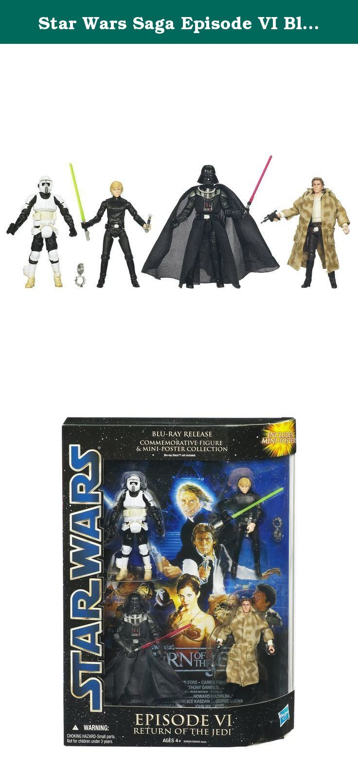 Star Wars Saga Episode VI Blu-Ray Commemorative Packs. Hasbro Star Wars Saga Blu-Ray Episode 6 Kids don't want to miss Hasbro Star Wars Saga Blu-Ray Episode 6, a super cool collectible action figure set. Each figure in this assortment features multiple points of articulation. Why You'll Love It: Hasbro Star Wars Saga Blu-Ray Episode 6 is designed to provide thrill and excitement when kids enact scenes from the movie. Age: 4 years and up Features: Comes in an awesome window box…