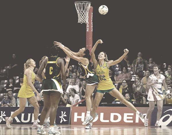 South Africa v Australian Diamonds in play at Wednesday night's Quad Series match.