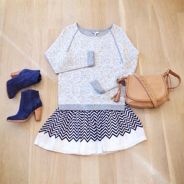 Chevron outfit inspiration.
