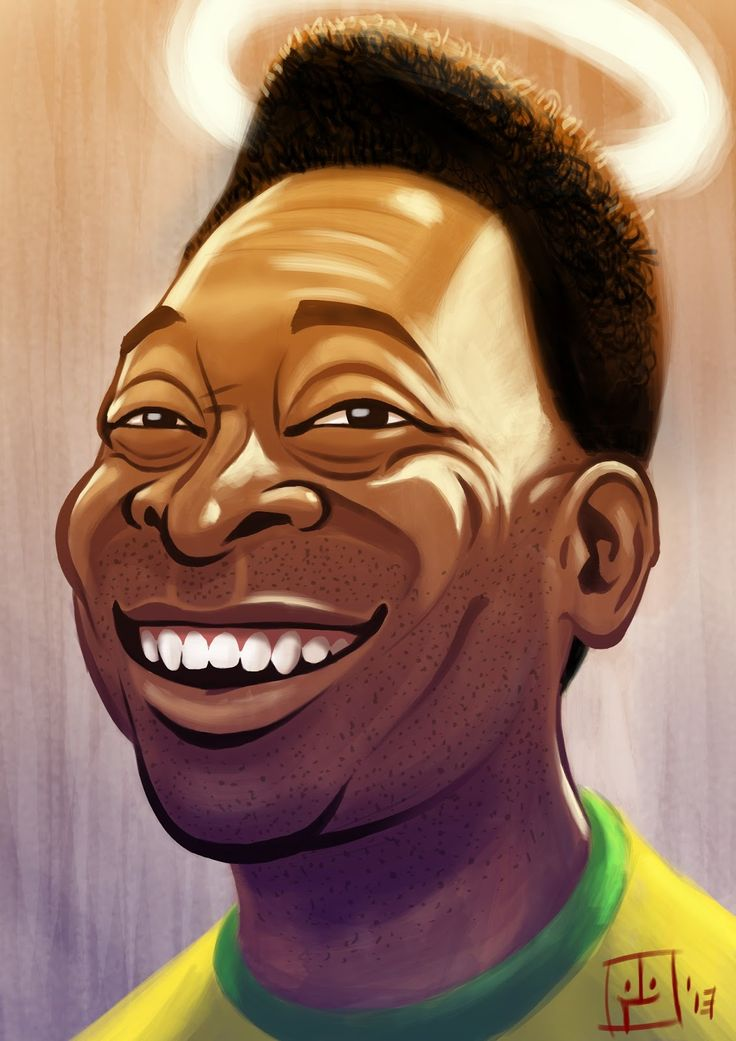 Caricature of Pele | Sports | Football, Caricature, Soccer