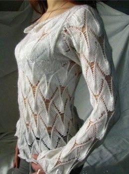 Lace Knit Stitch Pattern ~ sweater pattern FREE in PDF