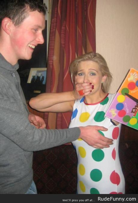 Twister costume was the wrong choice - http://www.rudefunny.com/uncategorized/twister-costume-wrong-choice/