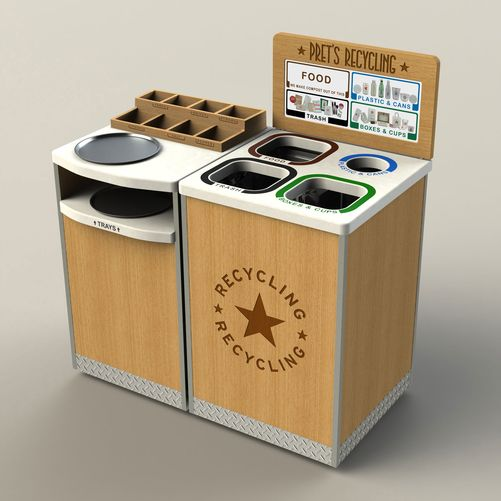 Pret A Manger - Custom Millwork Recycling Station