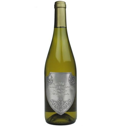 French Sancerre with Engraved Pewter Label  from www.personalisedweddinggifts.co.uk :: ONLY £44.99