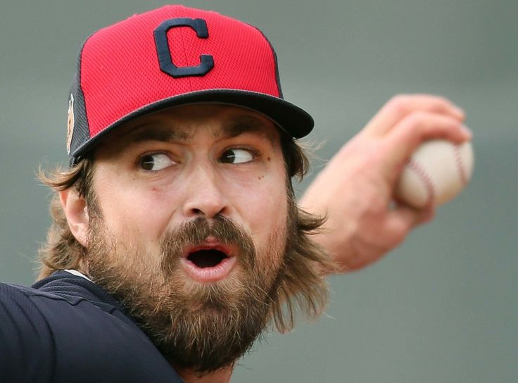 Cleveland Indians relief pitcher Andrew Miller, during his bullpen session at spring training in Goodyear, Arizona on Feb. 17, 2017. (Chuck Crow/The Plain Dealer)