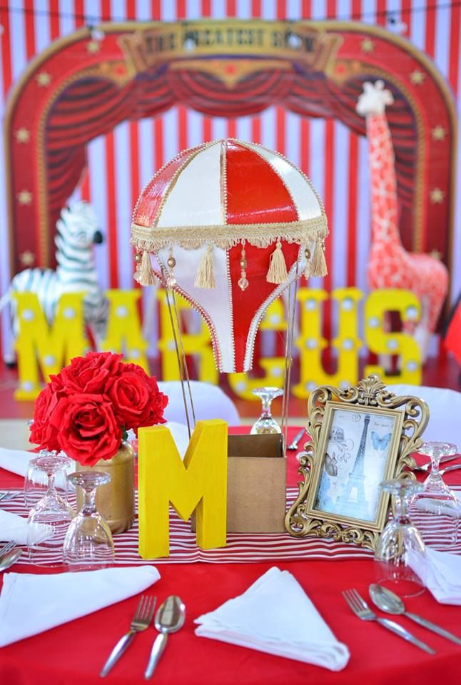 Circus Carnival Themed Table Centerpieces Carnival Themed Party Birthday Party Themes Party Themes