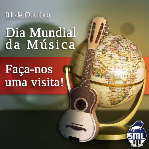 Boa tarde! Hoje é Dia Mundial da Música! Faça-nos uma visita! A loja está aberta aos Sábados. Rua da Oliveira ao Carmo 2 em Lisboa.  Visite-nos também em www.salaomusical.com
