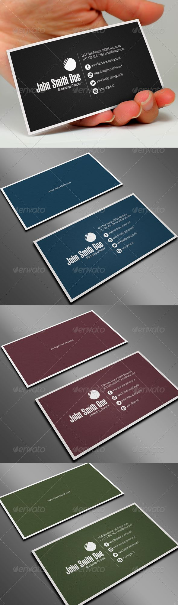 Professional Business Card - GraphicRiver Item for Sale