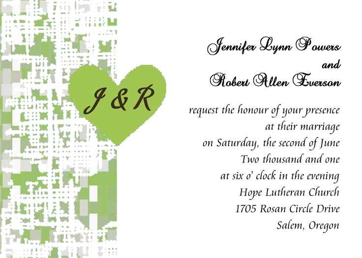 8 best Heart Wedding Invitations images on Pinterest