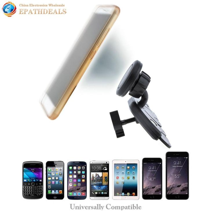 CD Player Magnetic Phone Mount Holder for iphone iPad Mini Air Tablet GPS Mobile Cell Phone
