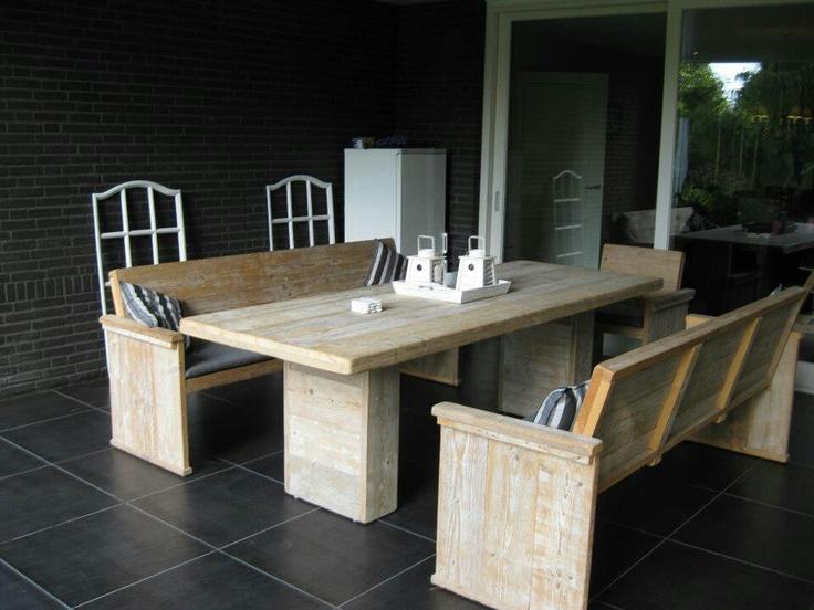 Steigerhouten meubels made by Geert Bouten interieur op maat