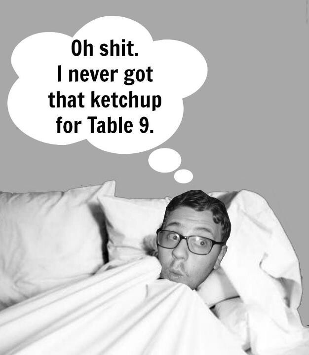 I hope you think of it at night! I probably just stole another tables ketchup though.