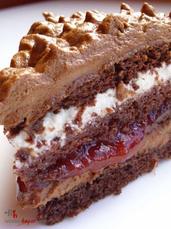 Tarta de trufa fresca (chocolate y nata)