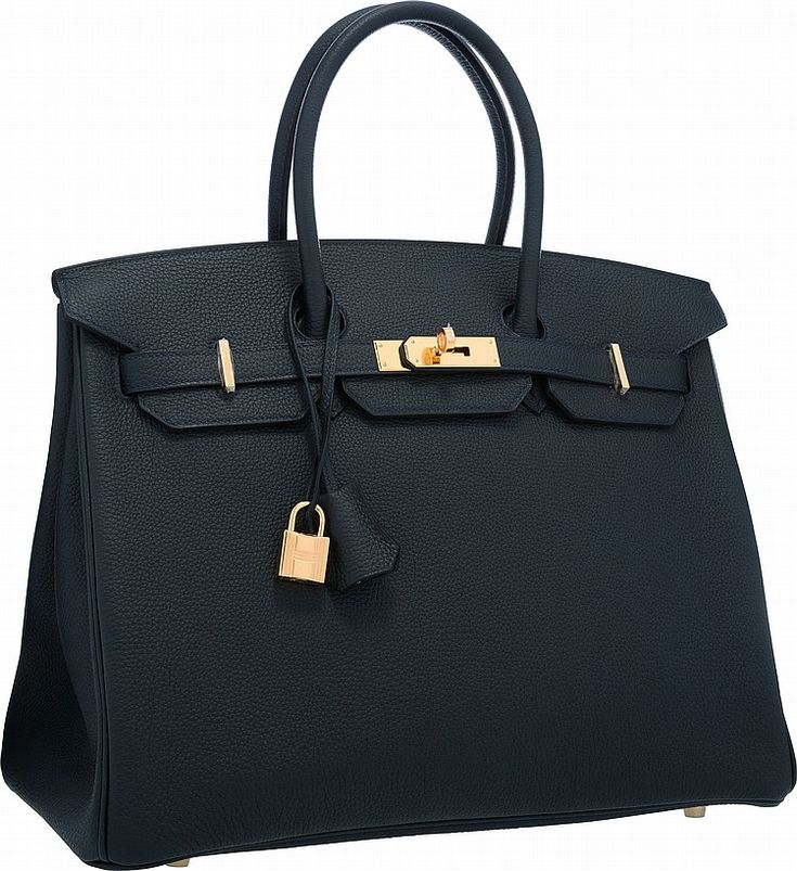 Hermes 35cm Blue Ocean Togo Leather Birkin Bag with gold hardware - by Heritage Auctions