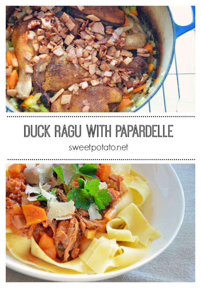 This slow-cooked Duck Ragu with Papardelle pasta is simply a delight.