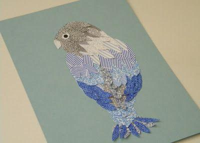 homework: a creative blog: Inkling: security envelope bird