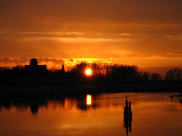 sunset in Kamień Pomorski