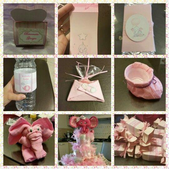 Baby shower ideas - elephant theme for a girl. Alcune idee per un benvenuto alla piccola nascituro o per un baby shower.