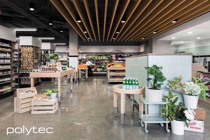 Beautiful retail joinery in polytec MELAMINE and LAMINATE Natural Oak RAVINE