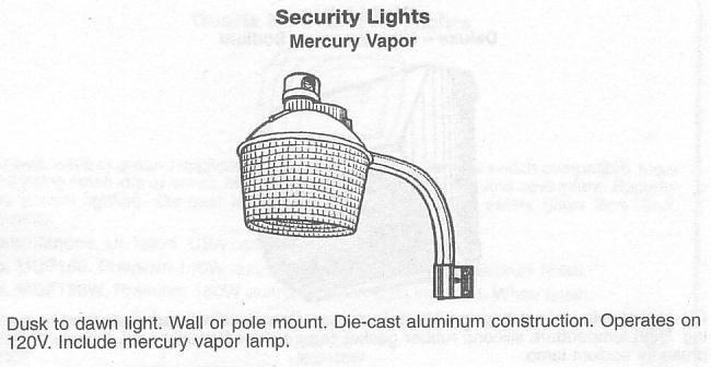 Discharge Hid Mercury Vapor Fixture Security Lights Mercury Dusk To Dawn