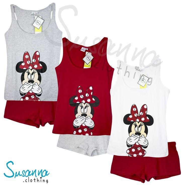 Disney Minnie Mouse Women's Short Sleeve Pyjamas Set S, M, L, XL