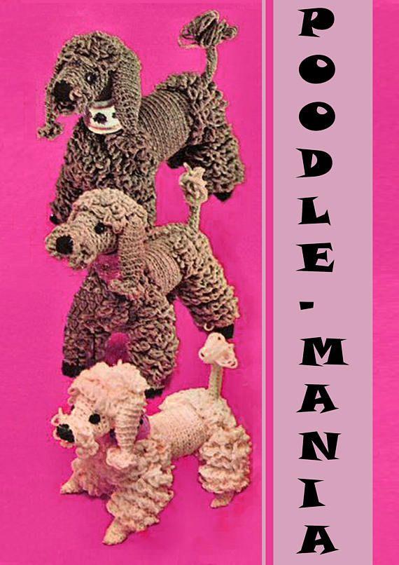 PDF Vintage POODLE Crochet Pattern 1960s Kitsch Toy Teddy