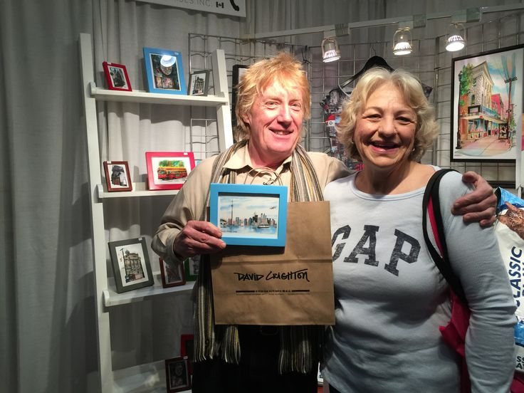 First - first winner of Comp ticket to #OOAKS16, first purchaser of a mini-frame and first person to use our new #davidcrighton_art branded bags!!!