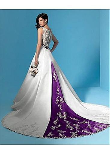 Una línea Vestido elegante exquisito del amor del satén de la boda En Gran trabajo hecho a mano