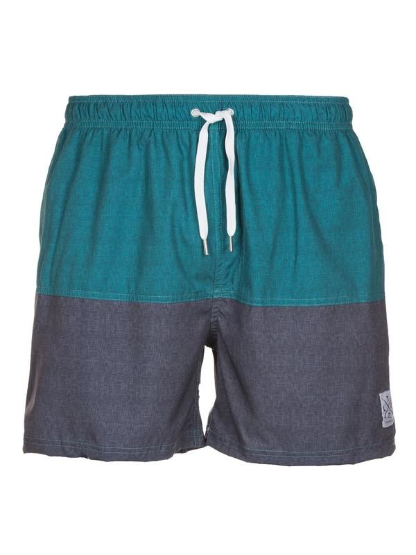Chambray Teal Shorts