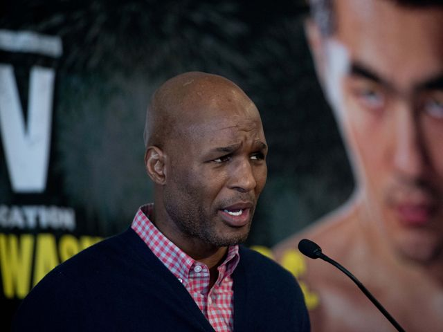 Result: Bernard Hopkins knocked out of ring by Joe Smith Jr in final fight