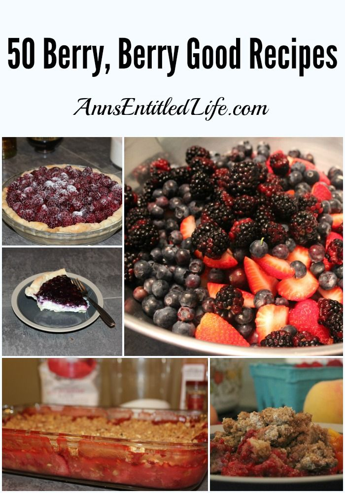 50 Berry, Berry Good Recipes - Today I'd like to share with you these 50 berry, berry good recipes! Raspberries, strawberries, blueberries and more, these fresh berries recipes are year round delicious, a nature sweet. From pies to cobblers to pancakes to frozen delights and drinks, take advantage of fresh fruit bounty, and make one of these breakfast, lunch or dinner berry good treats.  http://www.annsentitledlife.com/recipes/50-berry-berry-good-recipes/