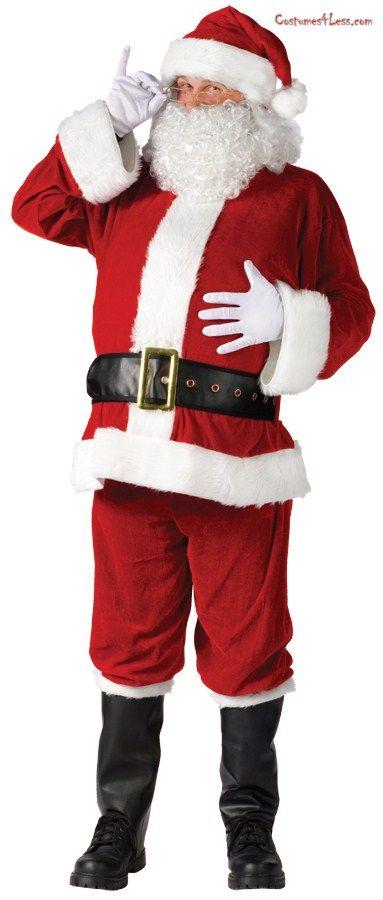 7567b219261c7 Santa Suit Complete Velour Costume Suit