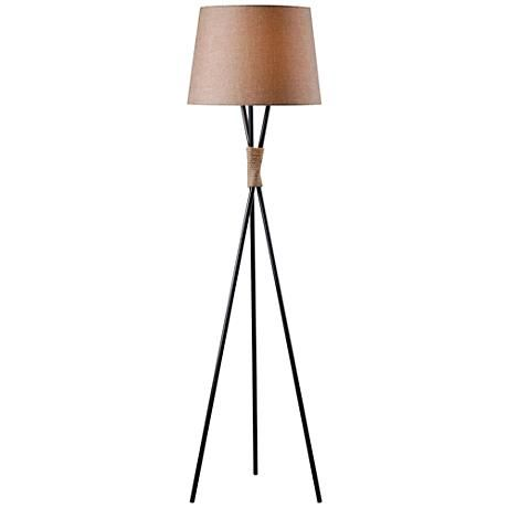 Kenroy Home Trio Bronze Tripod Floor Lamp