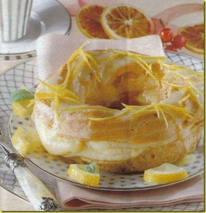 Ciambelle con crema al limone.