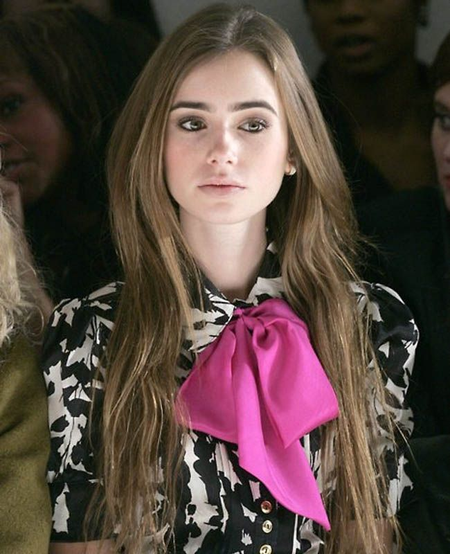 :: pop bow ::: Fashion, Style, Lilycollins, Lilies, Lily Collins, Lilly Collins, Bows, Hair