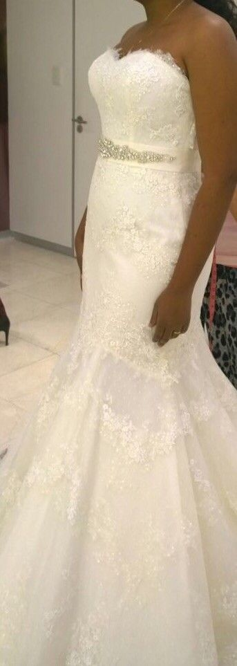 San Patrcik By Pronovias Halfi Size 10 Second Hand Wedding Dress   Still White