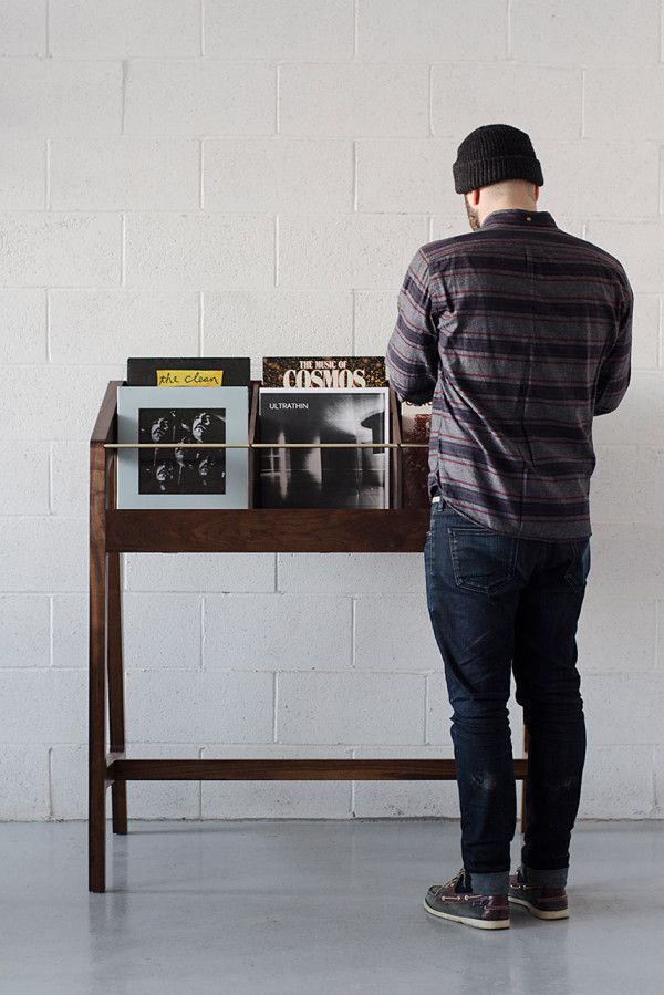 Handmade Wooden Display for Your Records
