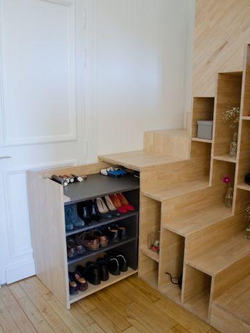 Un escalier à l'image de l'appartement