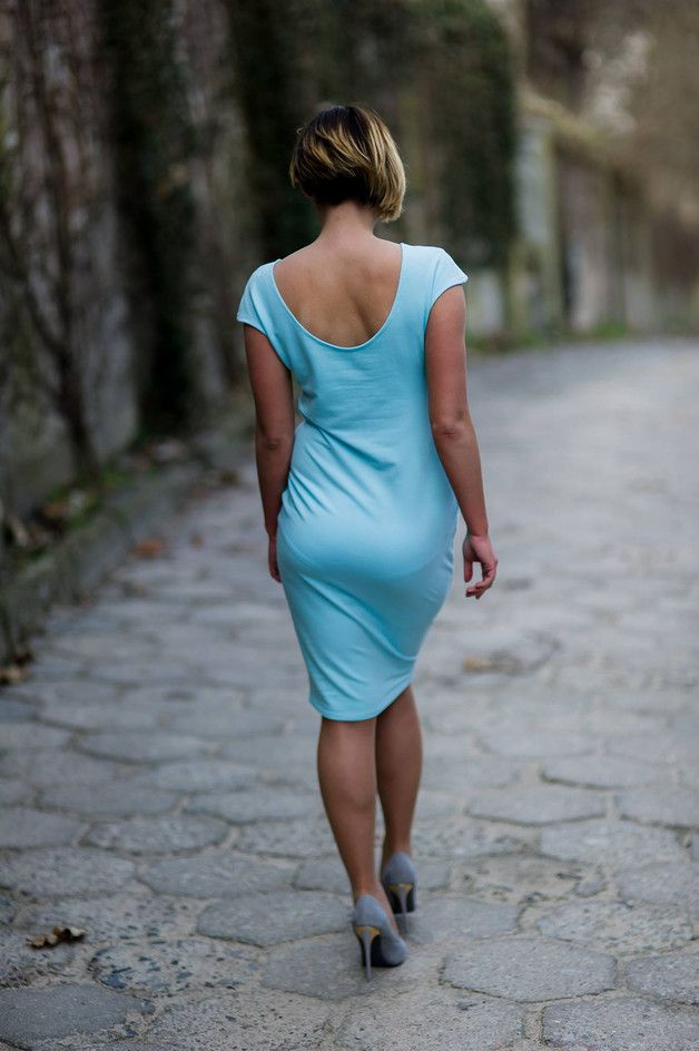 Sukienka Klara--- lazurowa - AfterHours - Sukienki dresowe