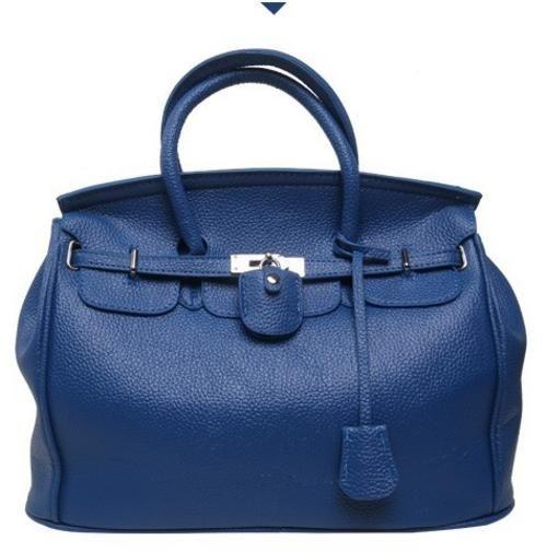 R585.. Blue embossed bag