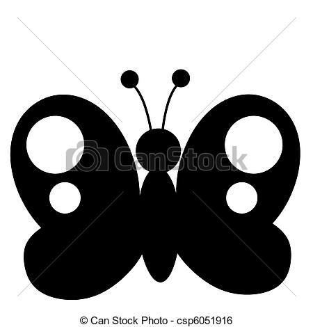 Clip Art de vectores de negro, mariposa, silueta - negro, y ...