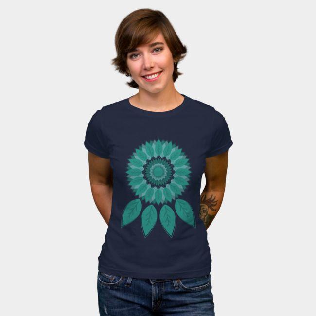 Dreamcatcher. #designbyhumans #dreamcatcher #dreams #nature #tshirt #tshirtdesign #apparel #womensfashion #leaf #minimal