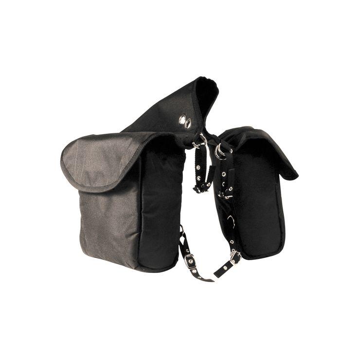 Bisaccia posteriore a due tasche in nylon Umbria Equitazione imbottito completa di anelli e lacciolini.