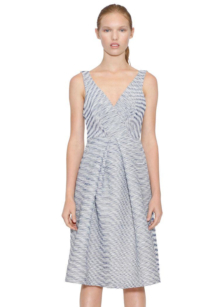 BY JOHNNY  - Navy Shadow Full Fold Dress