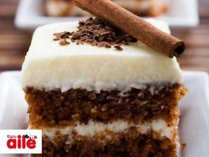 5 çaylarınızın vazgeçilmezi: Muhallebili havuçlu kek!